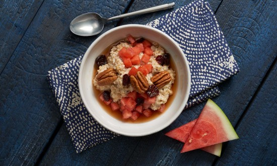 Steel Cut Oats with Watermelon