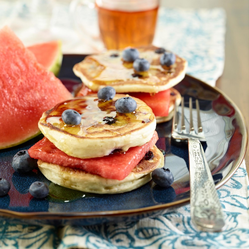 Watermelon Pancake Sandwiches