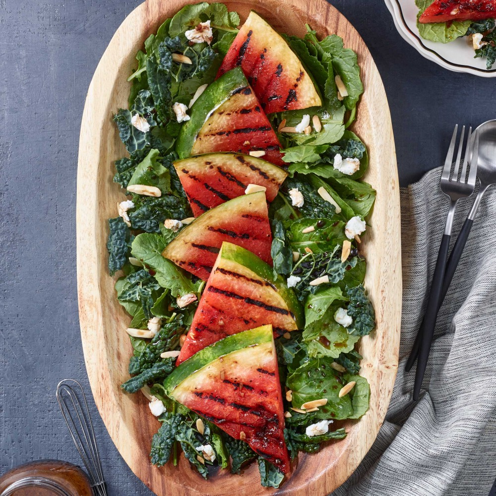 Grilled Watermelon and Kale Salad