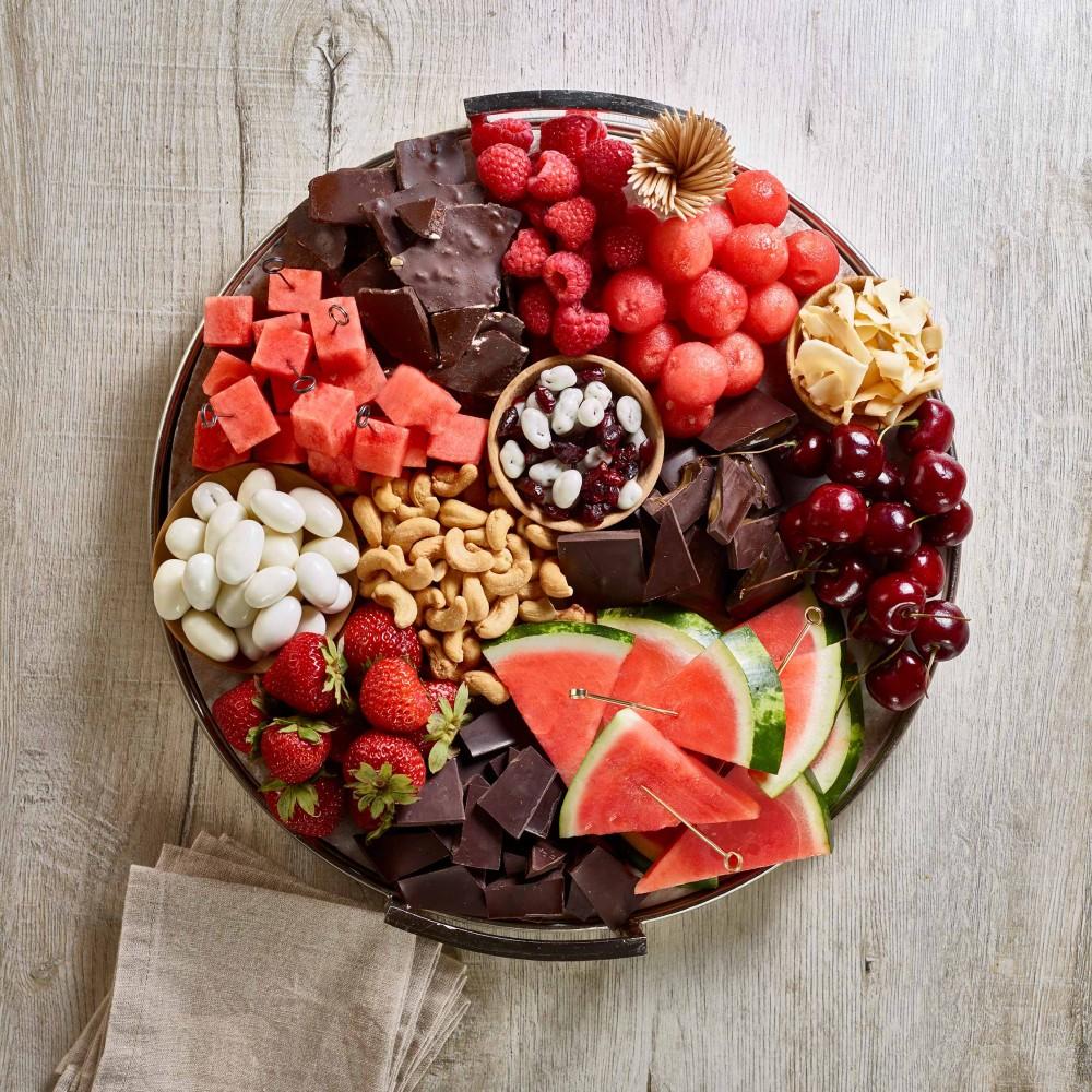 Watermelon and Chocolate Dessert Board