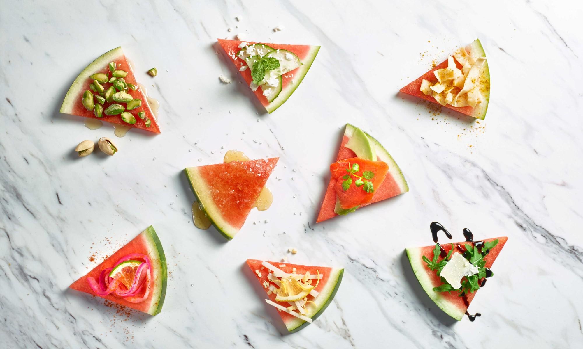 Various watermelon flavor pairings on