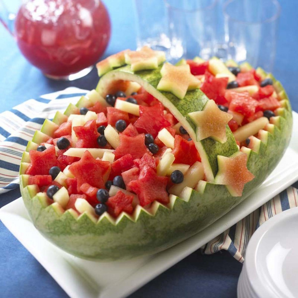 Americana Basket Watermelon Carving