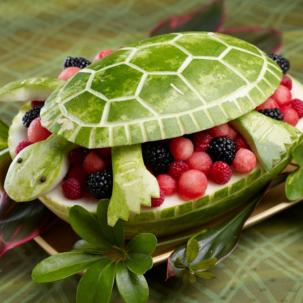 Turtle Watermelon Carving