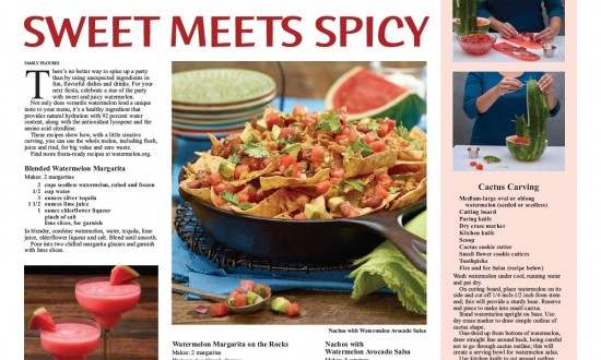 Sweet Meets Spicy Layout with recipes and images