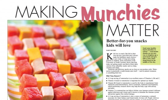 Layout - Making Munchies Matter with recipes and images