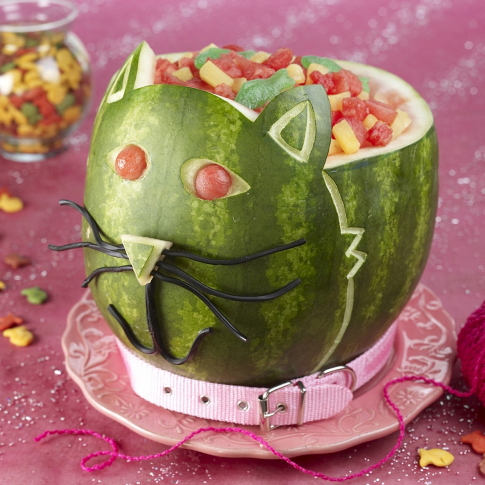 Kitty Cat Watermelon Carving