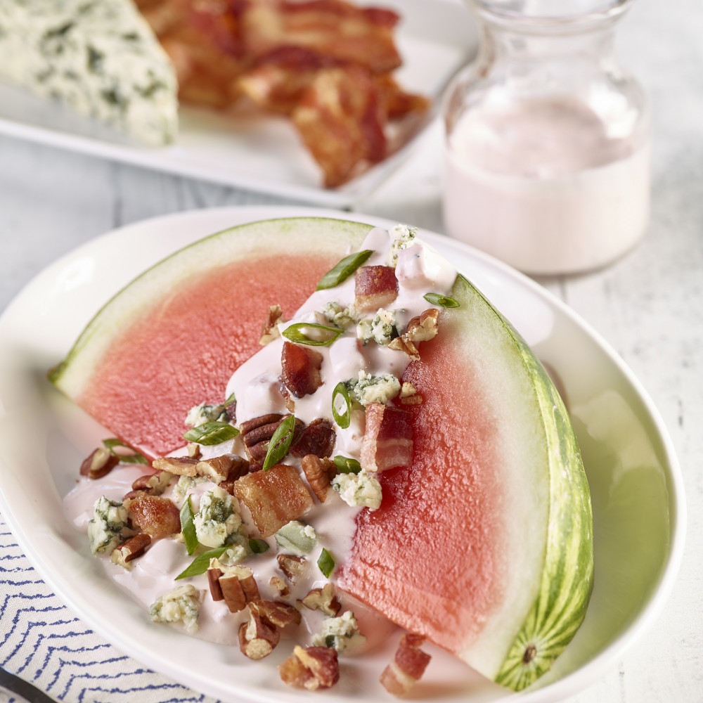 Watermelon wedge steakhouse salad picture