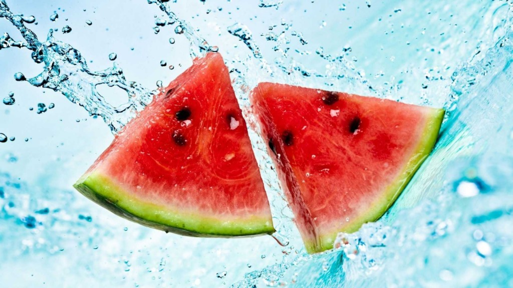 Watermelon Slices in Water