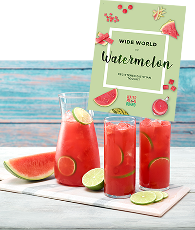wide world of watermelon brochure with watermelon in pitcher and glasses