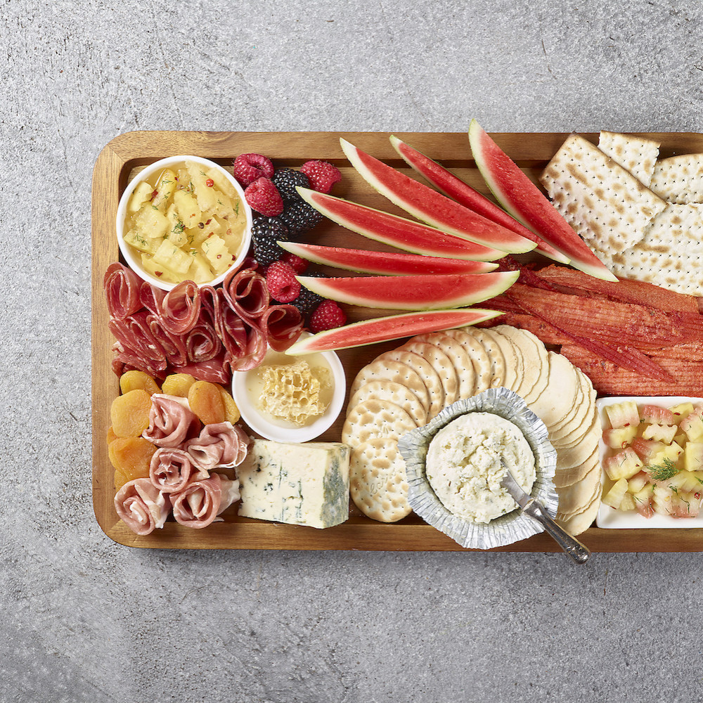 Watermelon Charcuterie Board with Pickles